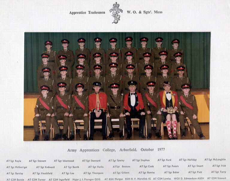 Arborfield Army Apprentices College, A/T WO